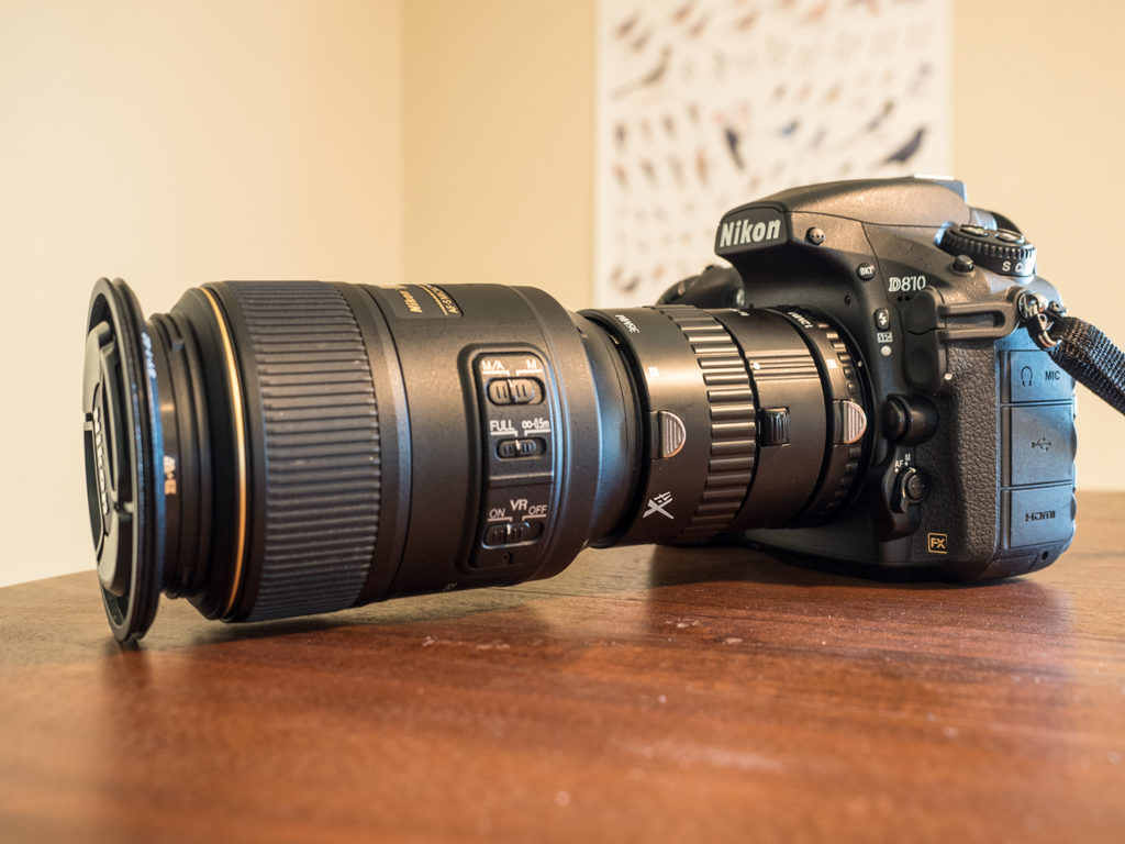 macro lens with extension tubes for super macro photography